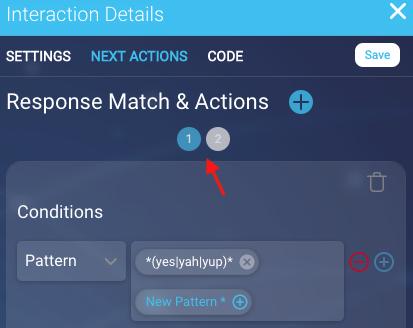 Conversation Builder - Response Match & Actions | LivePerson