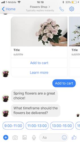 Quick Replies - Facebook Messenger Template | LivePerson