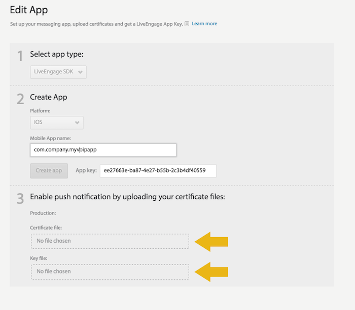 Mobile App Messaging SDK for iOS - LiveEngage Configuration